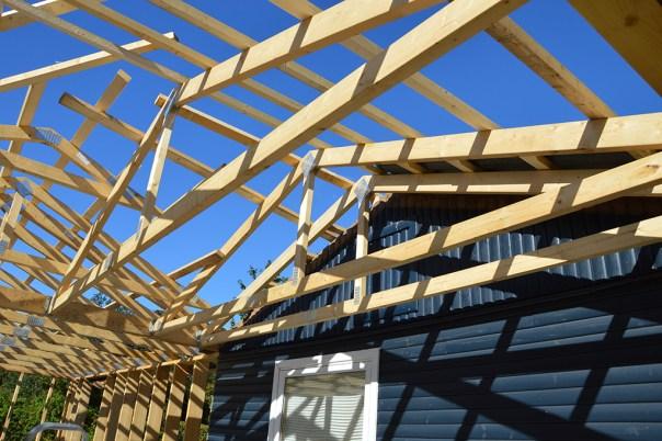 Tagkonstruktion tilbygning sommerhus