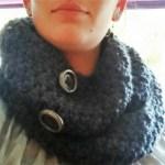 Hæklet halsrør – infinity scarf