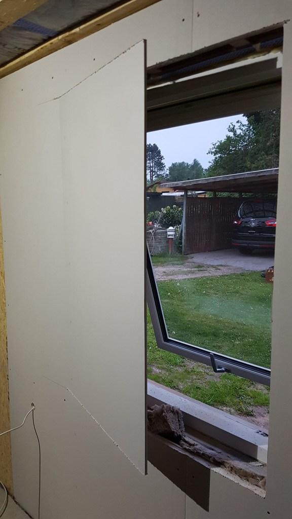 Gipsplader ved vinduer