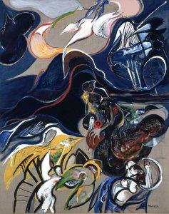 1990, Genèse - 162 x 130 cm