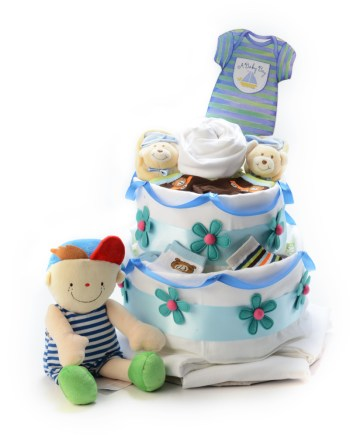 little babe diapers cake