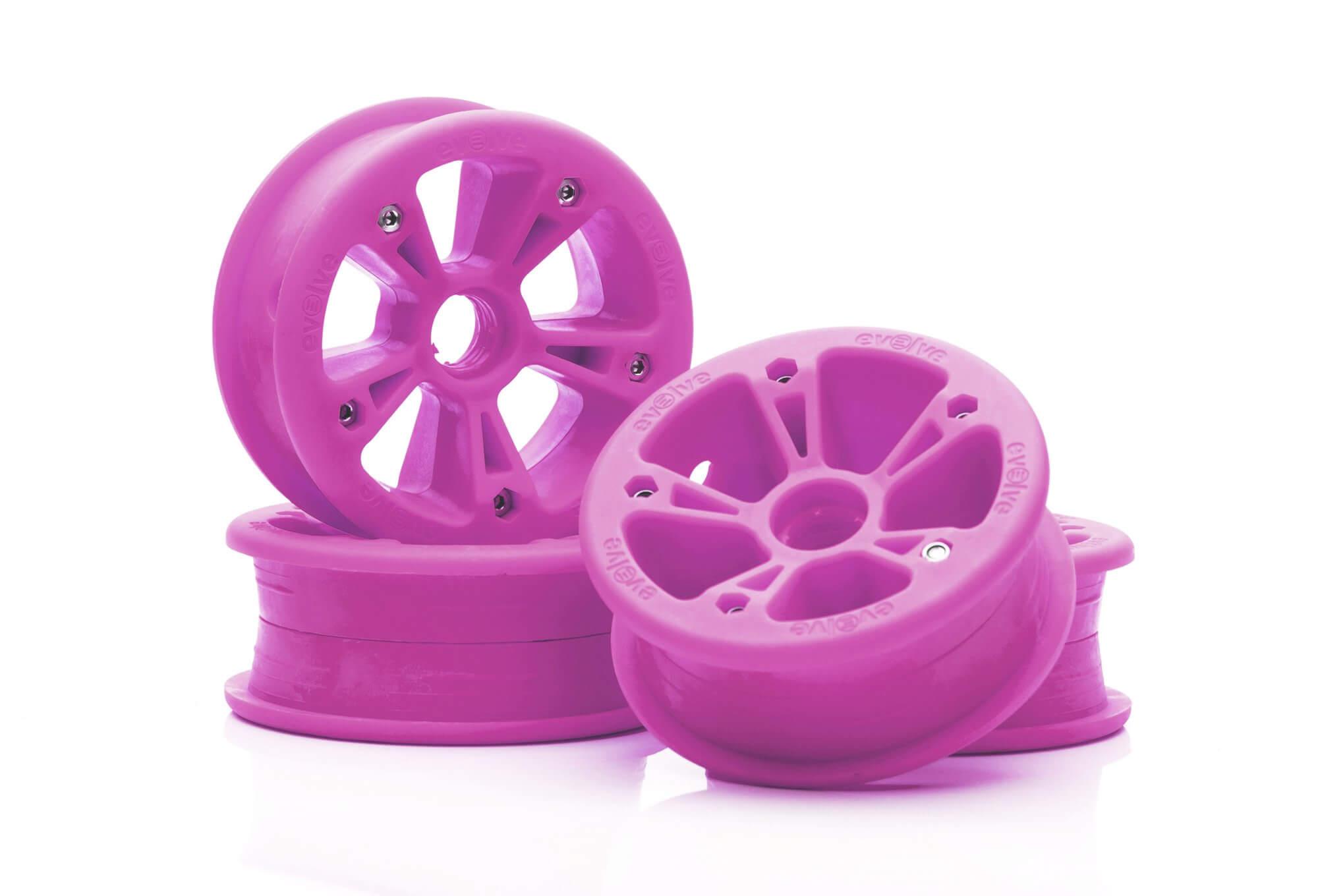 Evolve GTR AT hubs pink