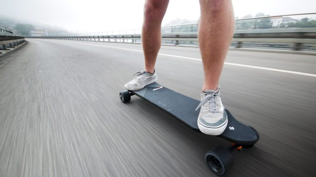 Riding The Exway X1 Pro electric skateboard