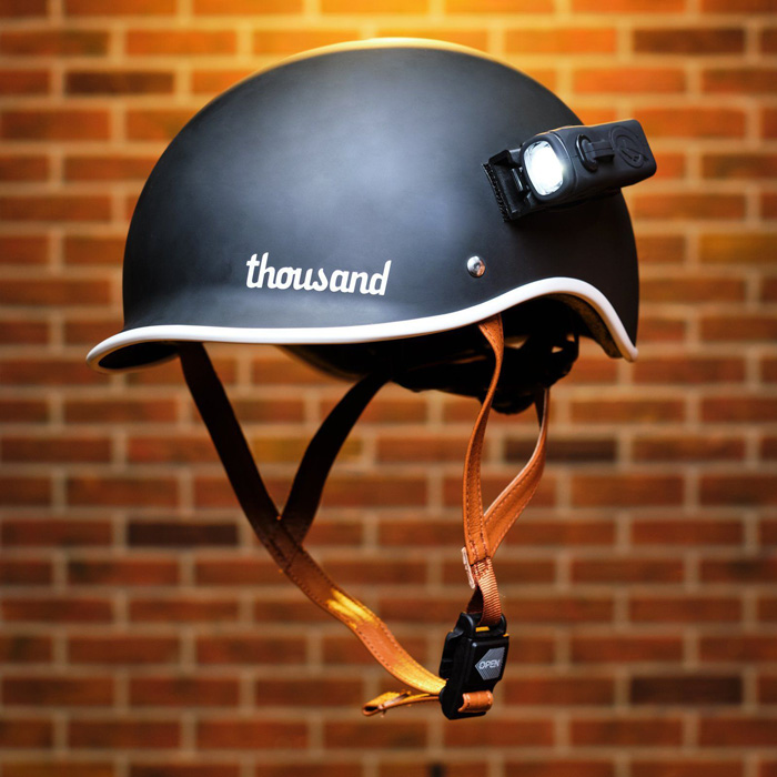 ShredLights on Helmet