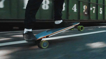 Riding the Acton Blink S-R electric skateboard