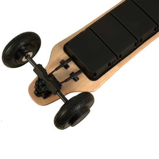 AEboard AT2 electric longboard rear motors and enclosure