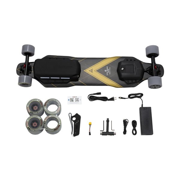 Backfire G3 Plus electric skateboard contents in box
