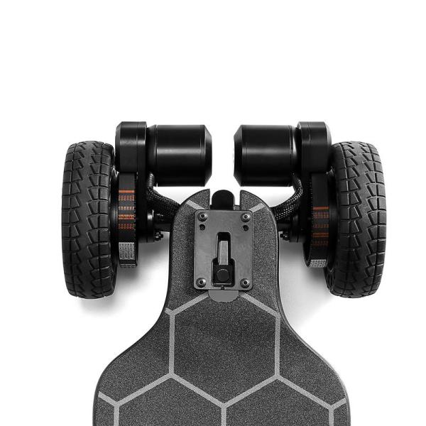 Ownboard Bamboo AT electric skateboard rear motors with AT wheels