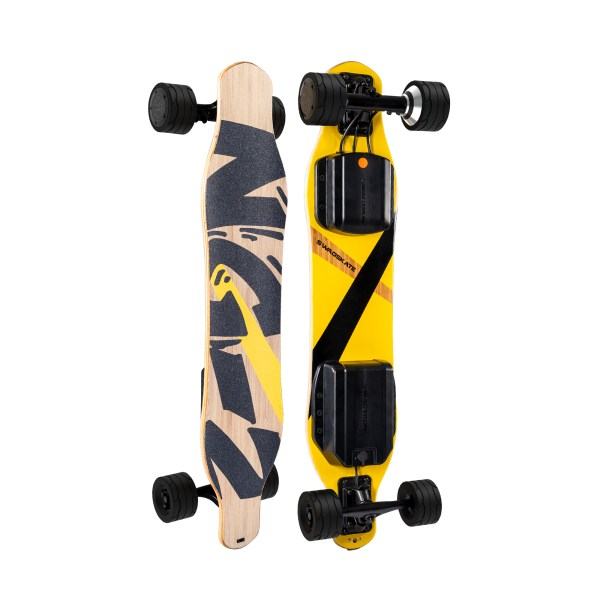 Swagtron Swagskate NG2 electric longboard top and underneath deck