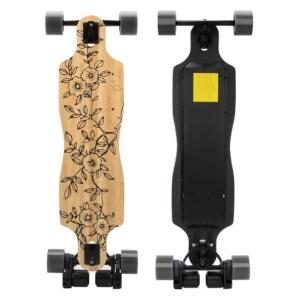 Verreal RS electric longboard skateboard top and underneath deck