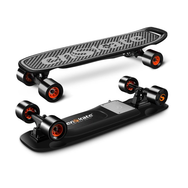 enSkate Woboard Mini electric skateboard top of deck and underneath