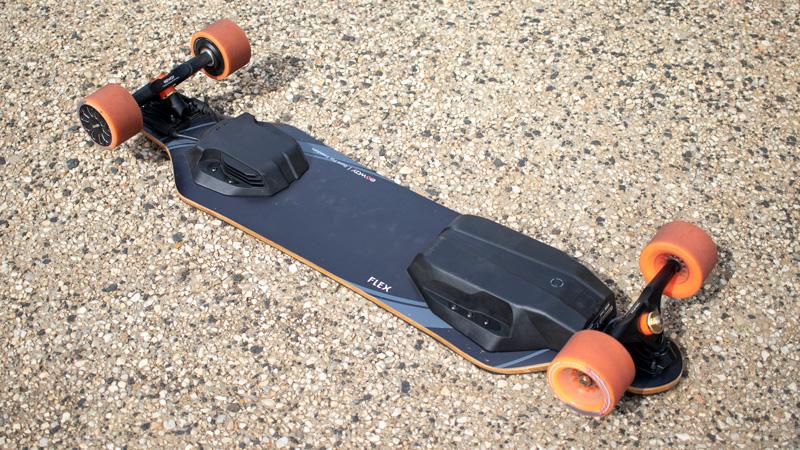 exway flex electric skateboard underneath