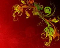 Abstract swirl flowers wallpaper | 1280x1024 | #9835