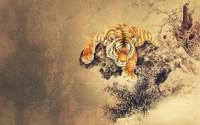Cool Oriental wallpaper