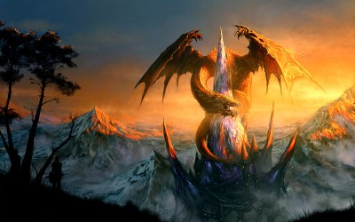 dragon dragons wallpapers cool fire ice backgrounds fantasy related background orange