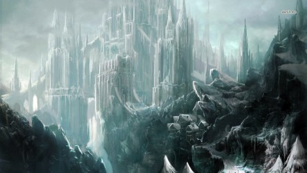 ice fantasy castle hd fiction science anime kingdom wallpapers digital desktop landscape palace frozen snow lava blossom cherry backgrounds wallpapersafari