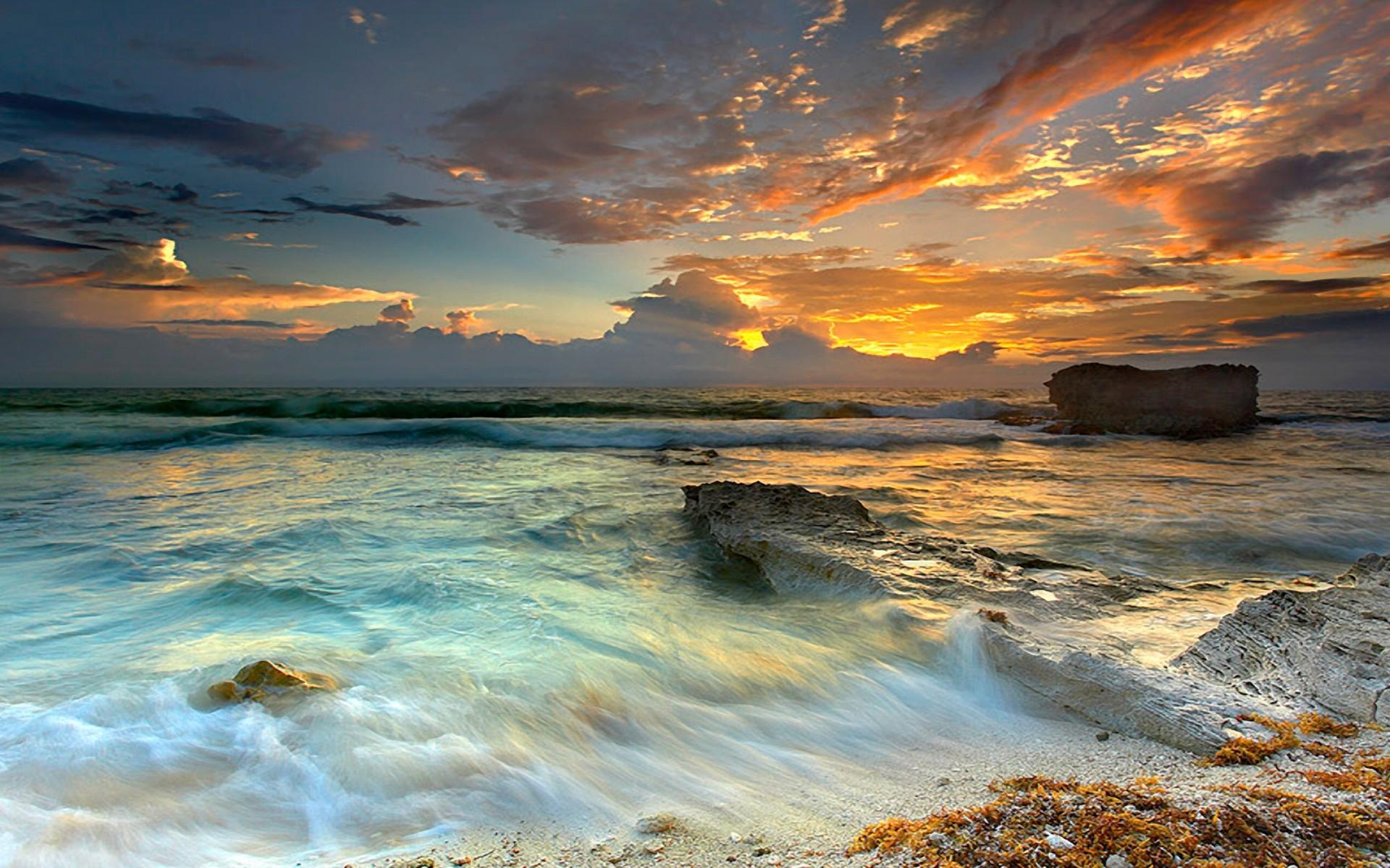 Sahil 3d Name Wallpaper Stunning Ocean Sunset Wallpaper 1920x1080 15553