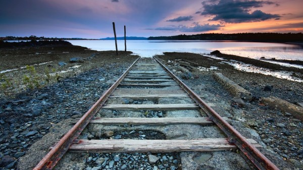 Train Track Desktop Wallpaper