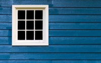 White Window Blue House Style wallpaper | 1680x1050 | #22100