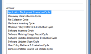 SCCM Configmgr Client Actions and its Description