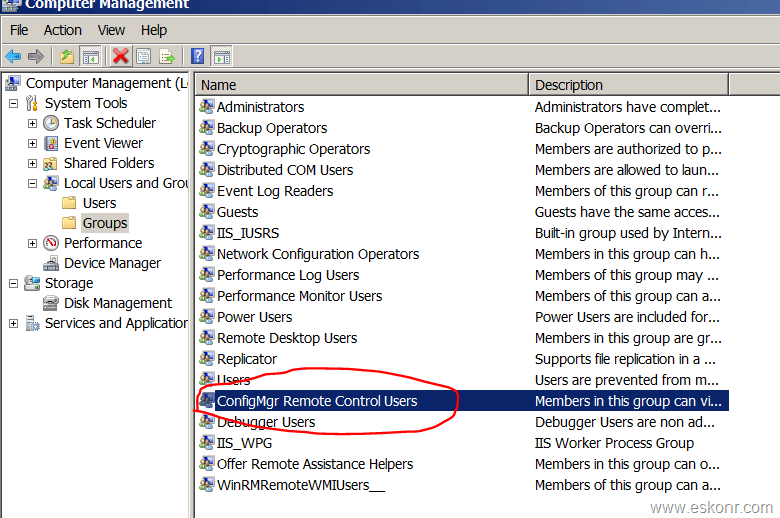 Configmgr 2012 Remote control How to get Rid of Local