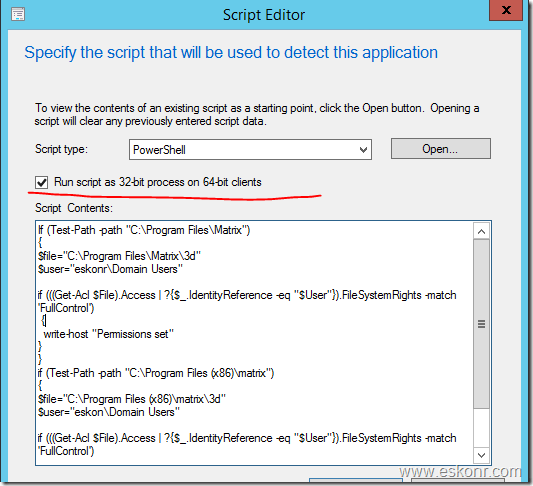 SCCM 2012 Deployment How to change security permissions to specific