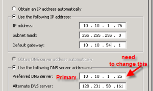 How to find and update DNS server search order using SCCM Configmgr