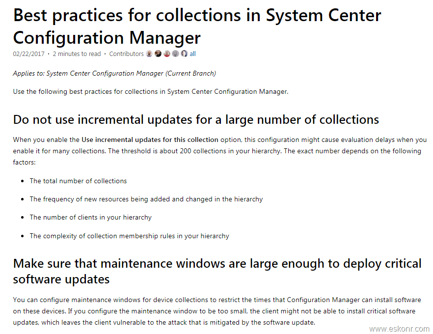 SCCM Configmgr monitoring Collection Evaluations and change