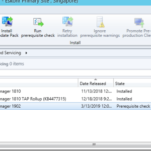 SCCM ConfigMgr Current Branch 1902 is now available as in-console and baseline version