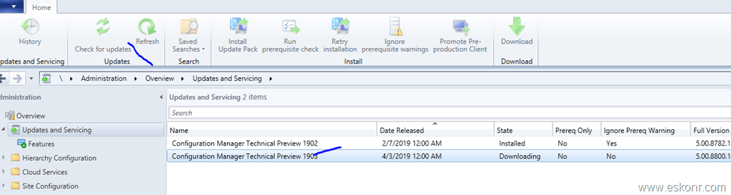 SCCM Configmgr Technical preview build 1903 released | Eswar