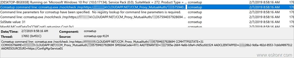 Ccmsetup install