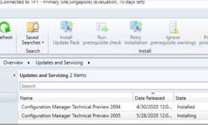 Configuration Manager Technical preview 2005 is released- bunch of cloud integration features