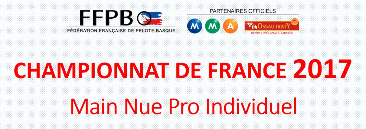 <strong>CHAMPIONNAT DE FRANCE 2017 Main Nue Pro Individuel</strong>