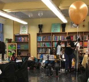 The first lunchtime performance was a sentimental live song.
