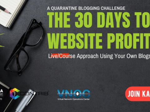 30 Days to Blog Profits – A Quarantine Blogging Challenge