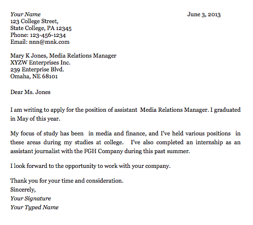 Job Resume Cover Letter Exles 5