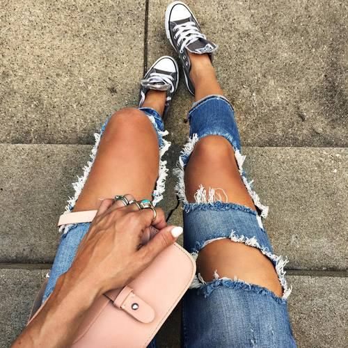 jeans rotos mujeres