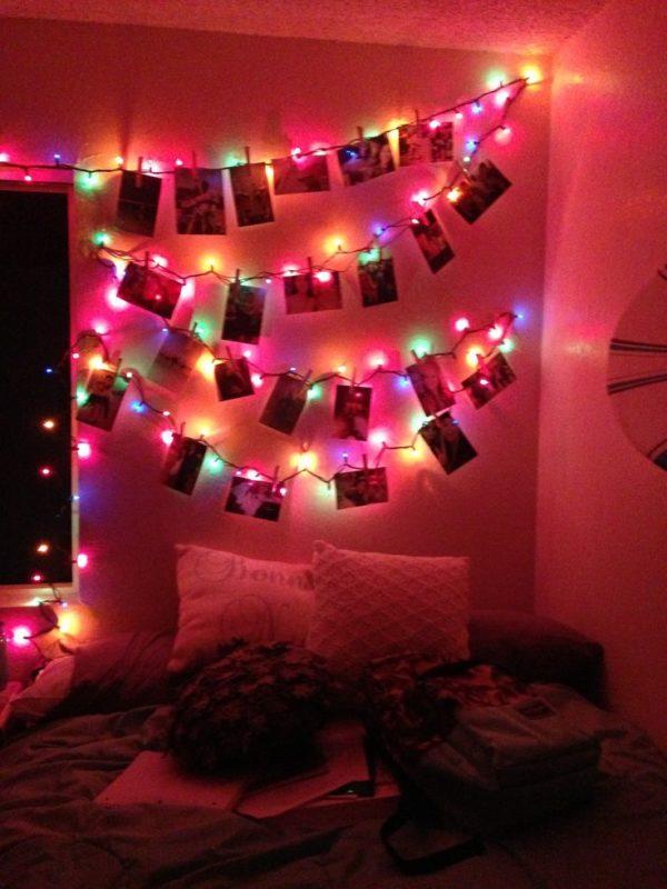 13 Ideas lindas para decorar tu cuarto con lucecitas navideas