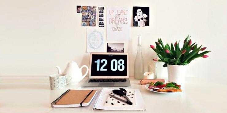 Ideas para hacerle un espacio lindo en tu escritorio a tu