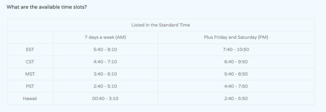 qkids schedule