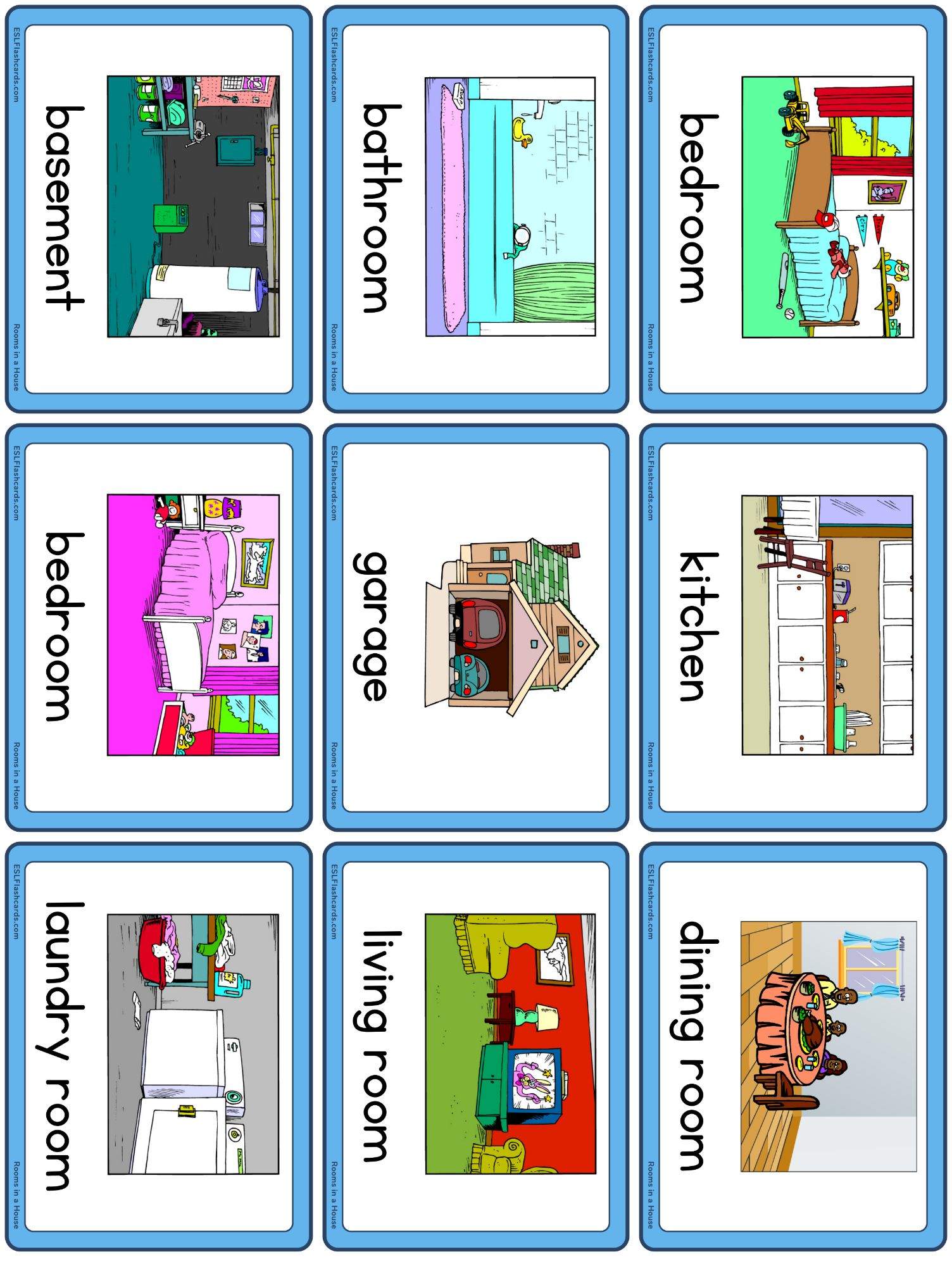Rooms In A House Esl Flashcards