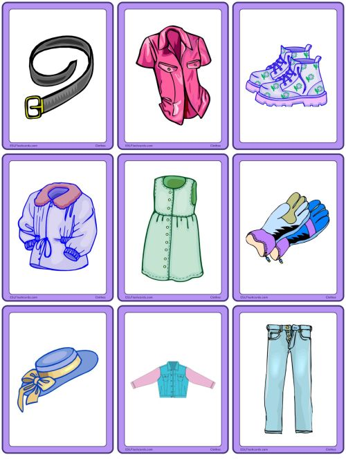 small resolution of Clothes – ESL Flashcards