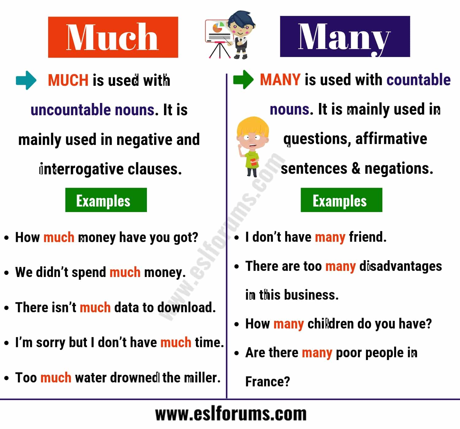 Much Vs Many What Are The Differences Between Them