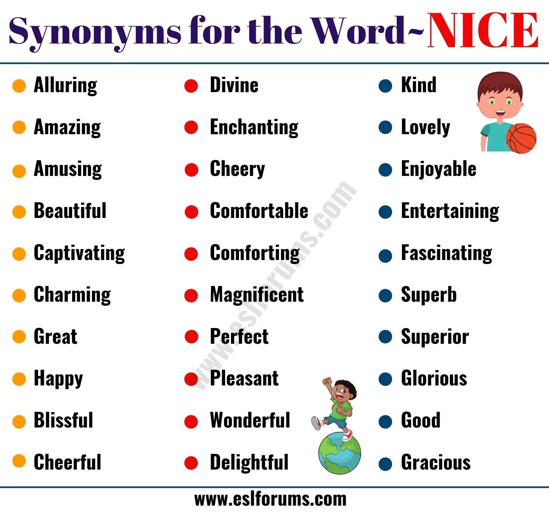 nice synonym 50 useful