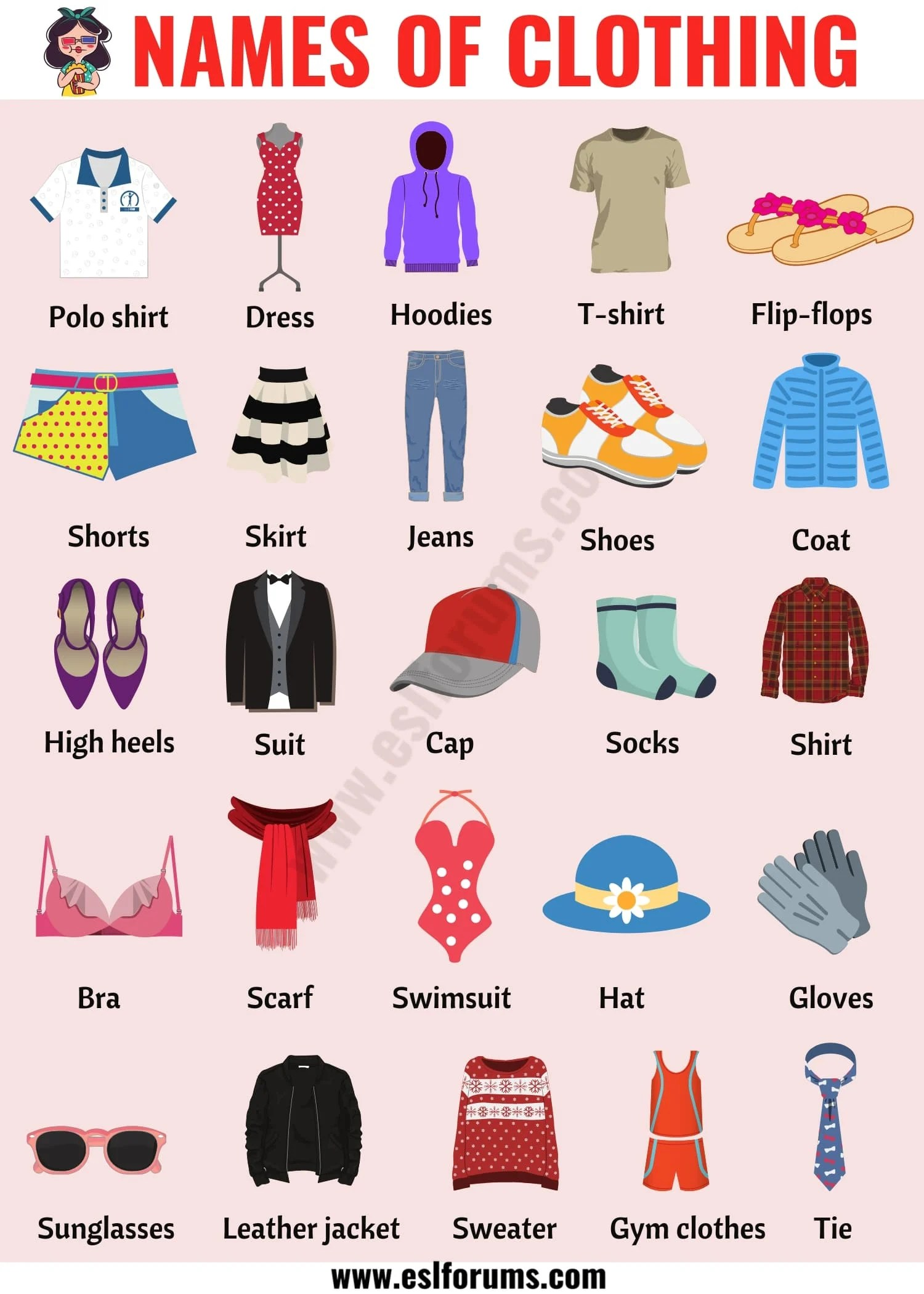 Types Of Clothing Useful List Of Clothing Names With The