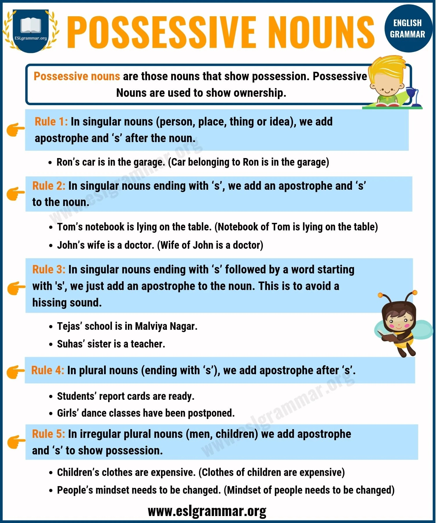 Possessive Nouns Definition Rules And Useful Examples