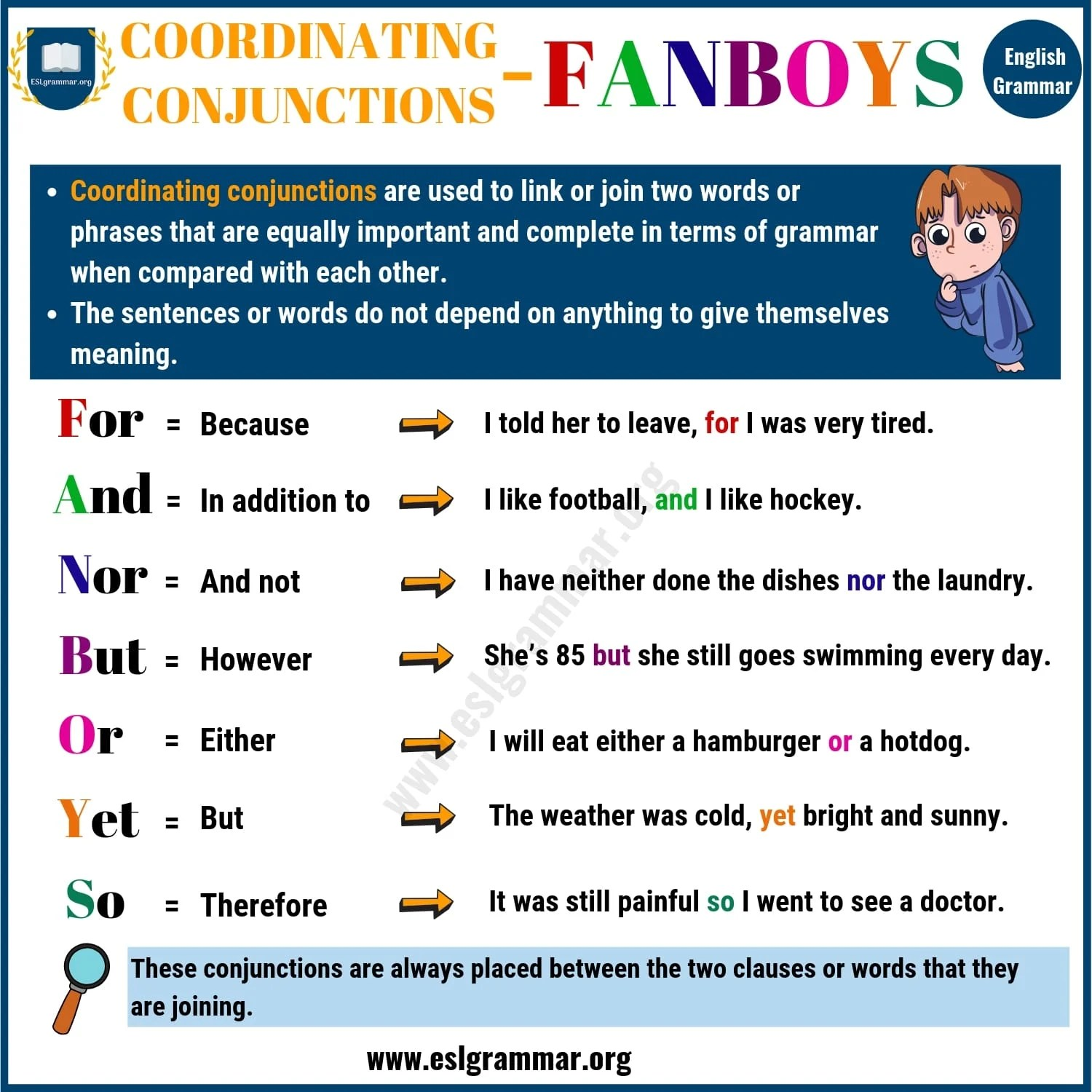 Fun Practice And Test Sentence With Coordinating Conjunction