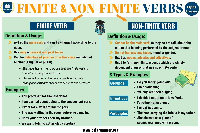 Finite And Non Finite Verbs