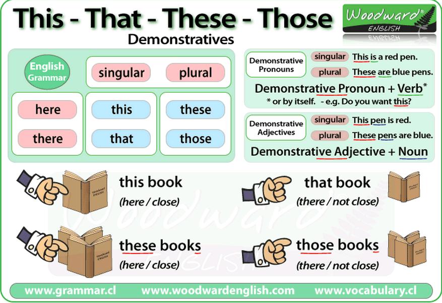 Demonstrative Pronouns And Demonstrative Adjectives  Teaching English