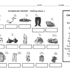 Vocabulary Words (Clothing Items 1)   ESL NOTES [ 847 x 1079 Pixel ]